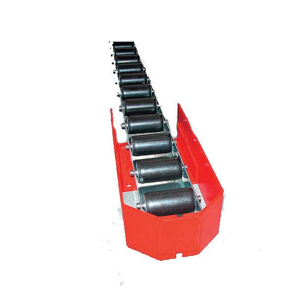 Rails palettes, rails à rouleaux